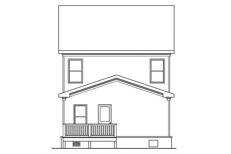 104-1163: Home Plan Rear Elevation