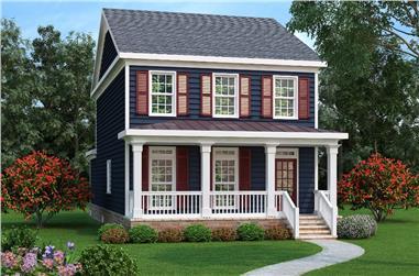 4-Bedroom, 2018 Sq Ft Craftsman Home Plan - 104-1163 - Main Exterior