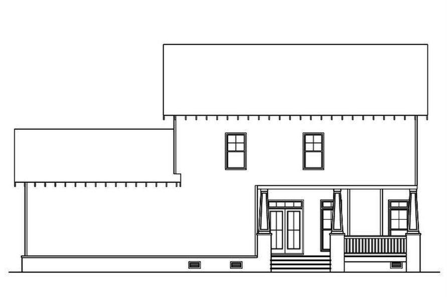 104-1164: Home Plan Rear Elevation