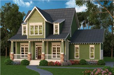 4-Bedroom, 2761 Sq Ft Country Home Plan - 104-1164 - Main Exterior