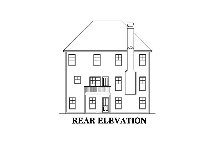 104-1165: Home Plan Rear Elevation
