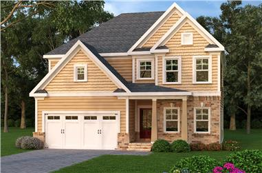 4-Bedroom, 2330 Sq Ft Southern Home Plan - 104-1165 - Main Exterior