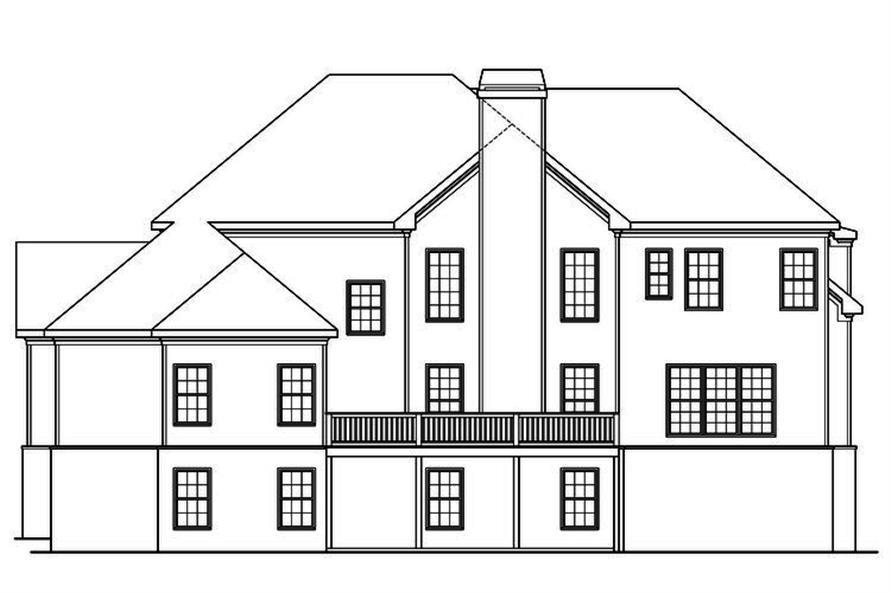 104-1166: Home Plan Rear Elevation