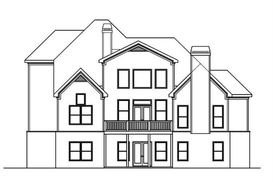 104-1167: Home Plan Rear Elevation