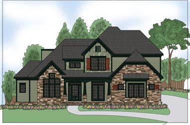 4-Bedroom, 2818 Sq Ft Southern Home Plan - 104-1167 - Main Exterior