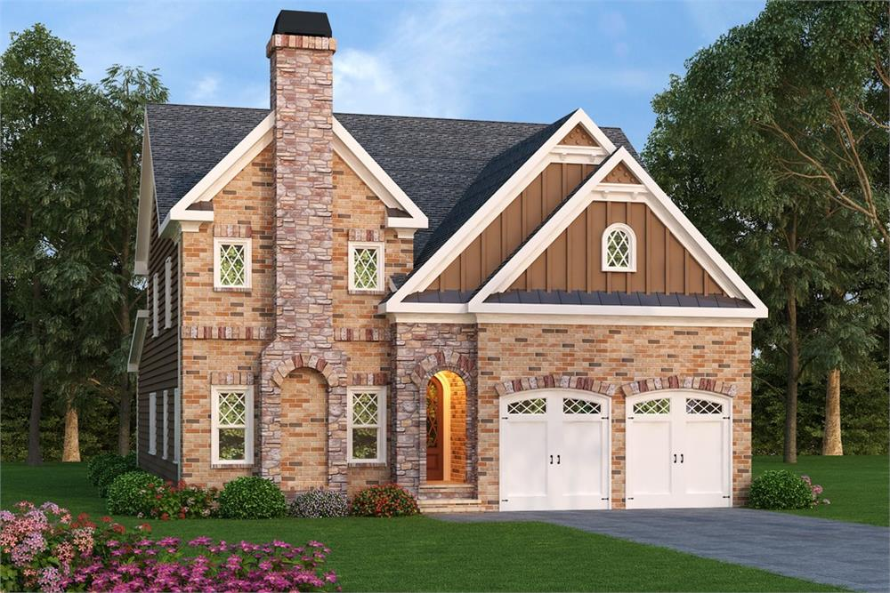 Front elevation of Traditional home (ThePlanCollection: House Plan #104-1168)