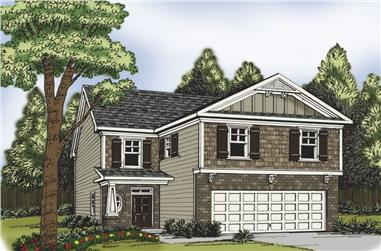 4-Bedroom, 2064 Sq Ft Traditional Home Plan - 104-1169 - Main Exterior