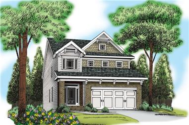4-Bedroom, 2171 Sq Ft Traditional Home Plan - 104-1170 - Main Exterior