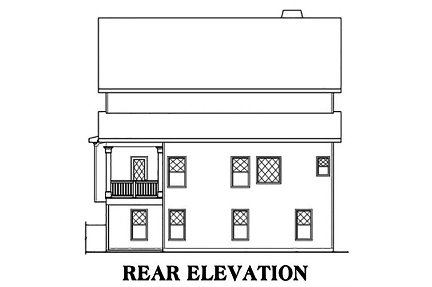 104-1171: Home Plan Rear Elevation