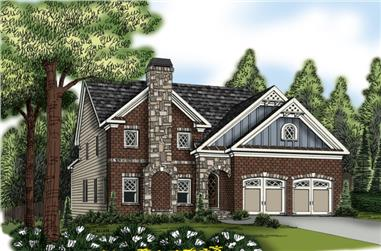 5-Bedroom, 2954 Sq Ft Traditional Home Plan - 104-1171 - Main Exterior