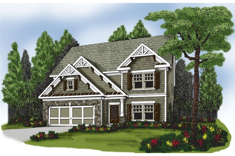 104-1172: Home Plan Rendering