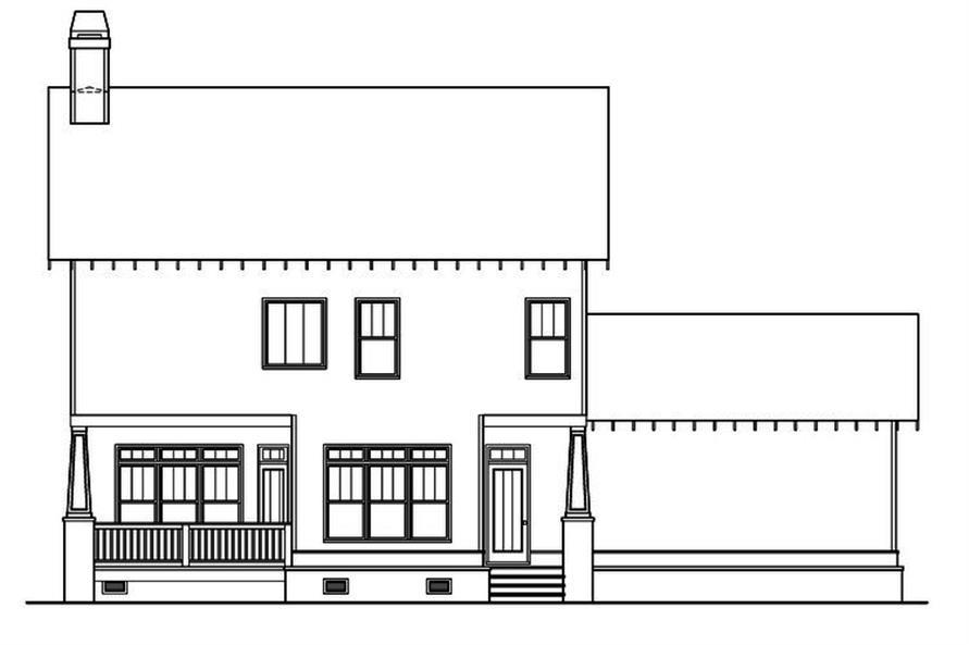 104-1175: Home Plan Rear Elevation