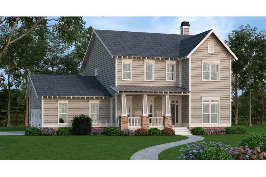 Front elevation of Country home (ThePlanCollection: House Plan #104-1175)