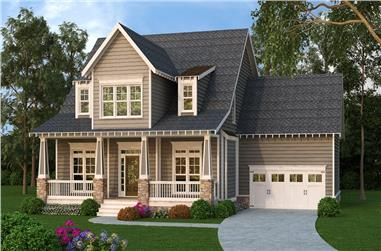 4-Bedroom, 2845 Sq Ft Craftsman House Plan - 104-1176 - Front Exterior