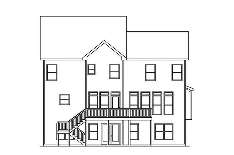 104-1177: Home Plan Rear Elevation
