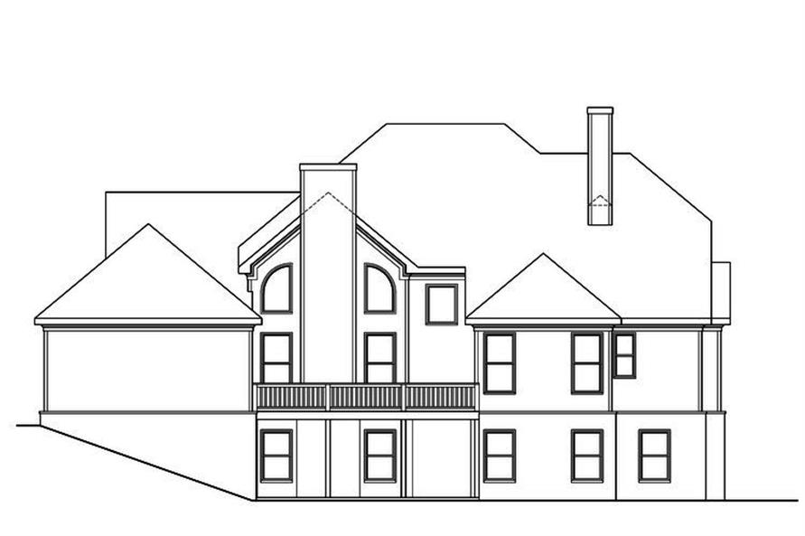 104-1178: Home Plan Rear Elevation