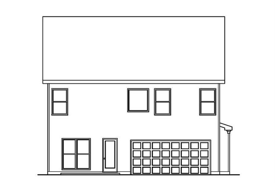 104-1179: Home Plan Rear Elevation