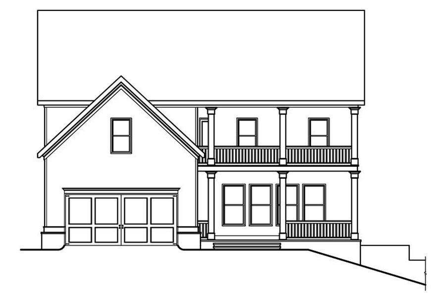 104-1181: Home Plan Rear Elevation