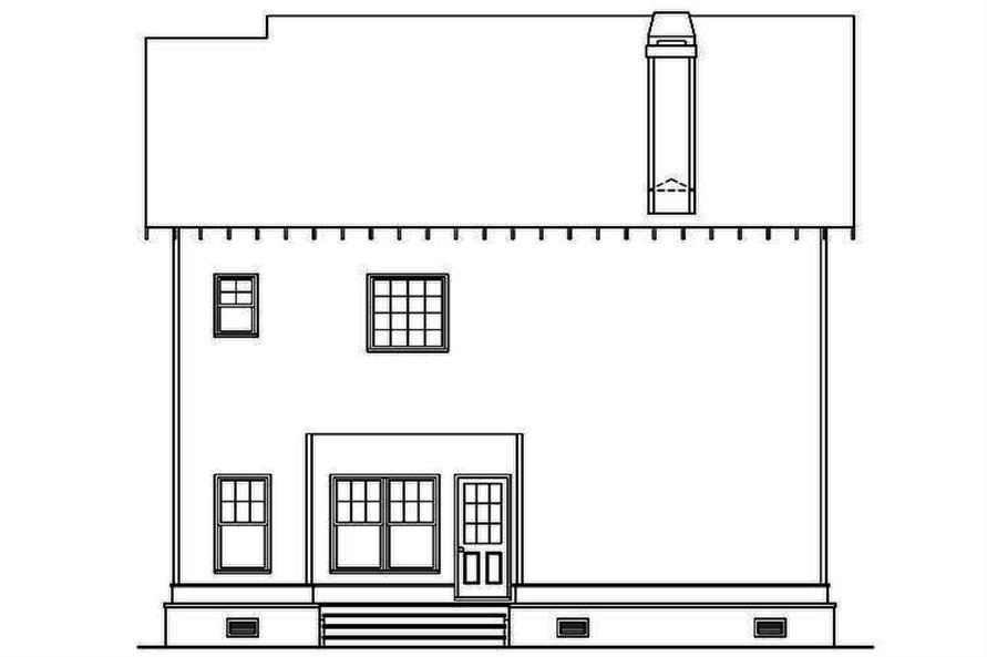 104-1182: Home Plan Rear Elevation