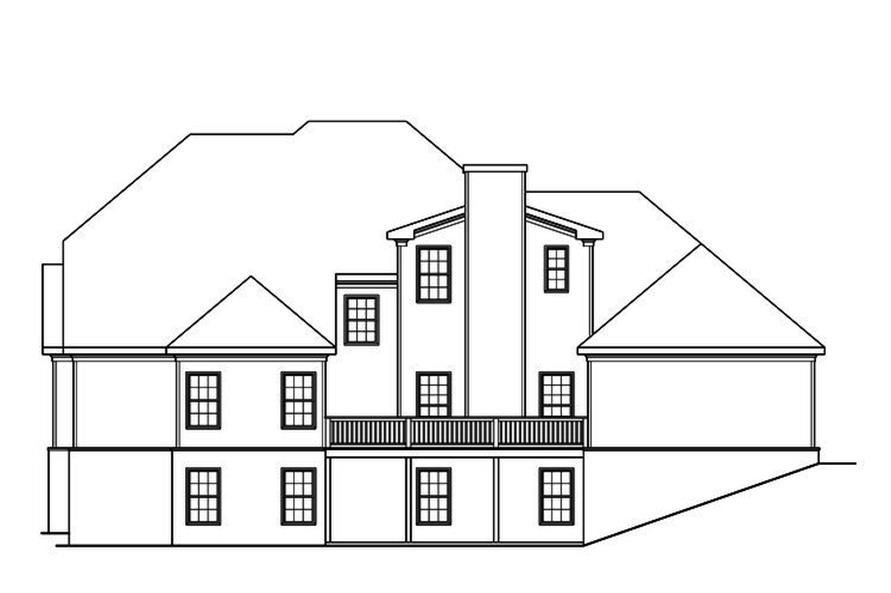 104-1183: Home Plan Rear Elevation
