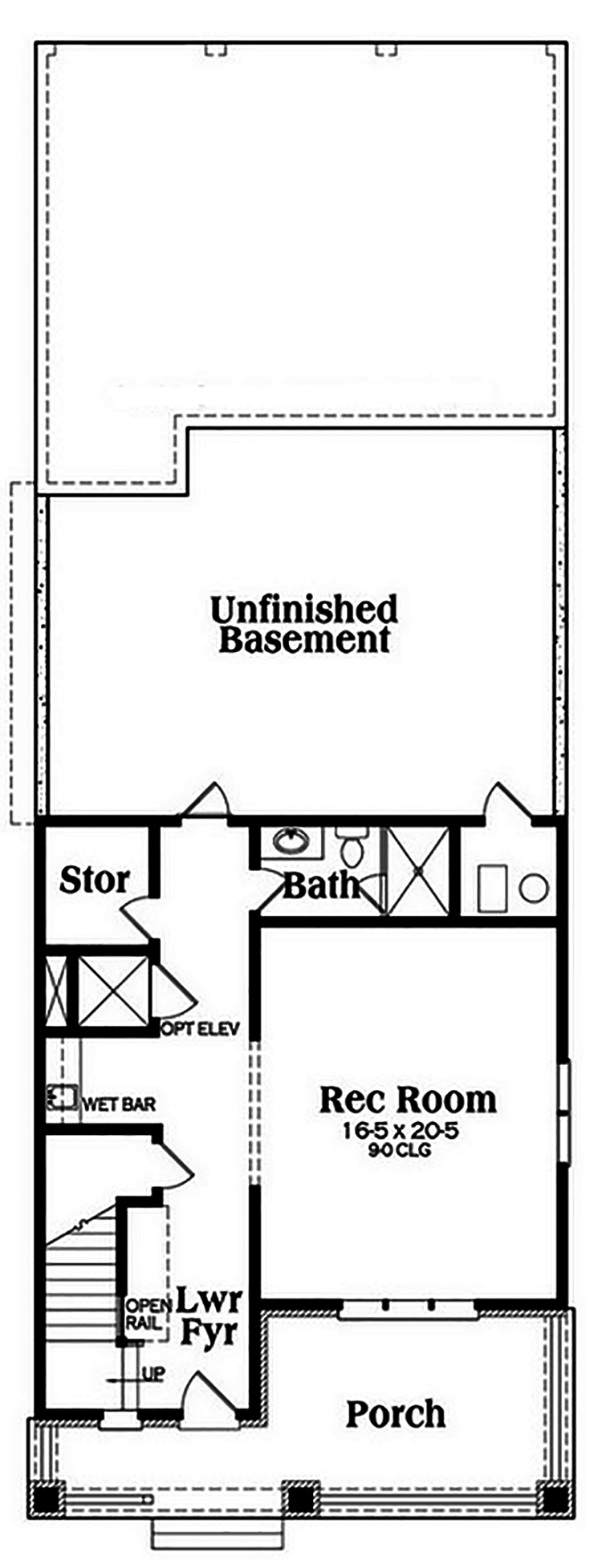 Coastal house plan 104 1184 3 bedrm 3241 sq ft home Cost of building a basement per square foot