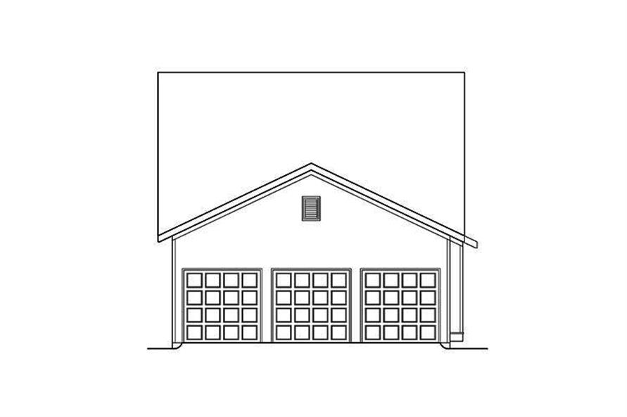 Home Plan Rear Elevation of this 3-Bedroom,3241 Sq Ft Plan -104-1184