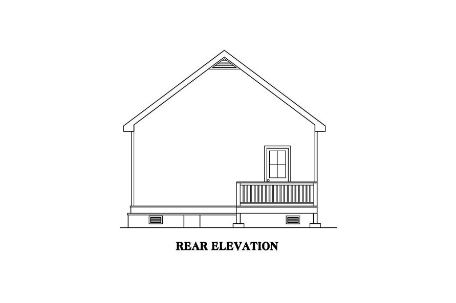 104-1185: Home Plan Rear Elevation