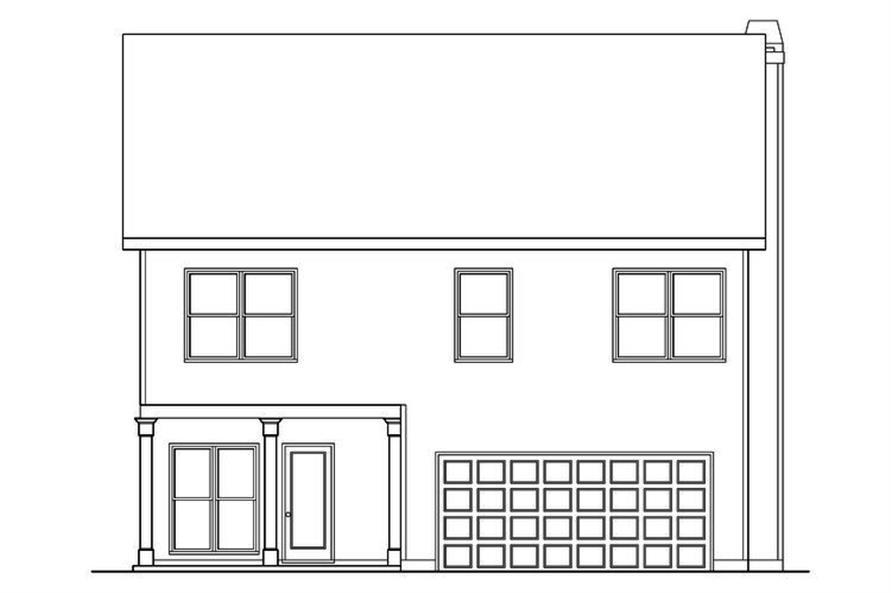 104-1186: Home Plan Rear Elevation
