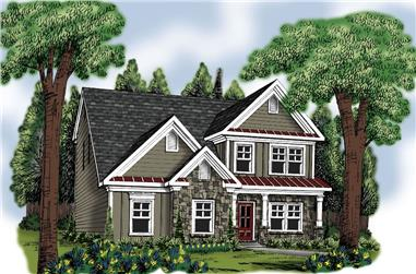 4-Bedroom, 2260 Sq Ft Traditional Home Plan - 104-1186 - Main Exterior