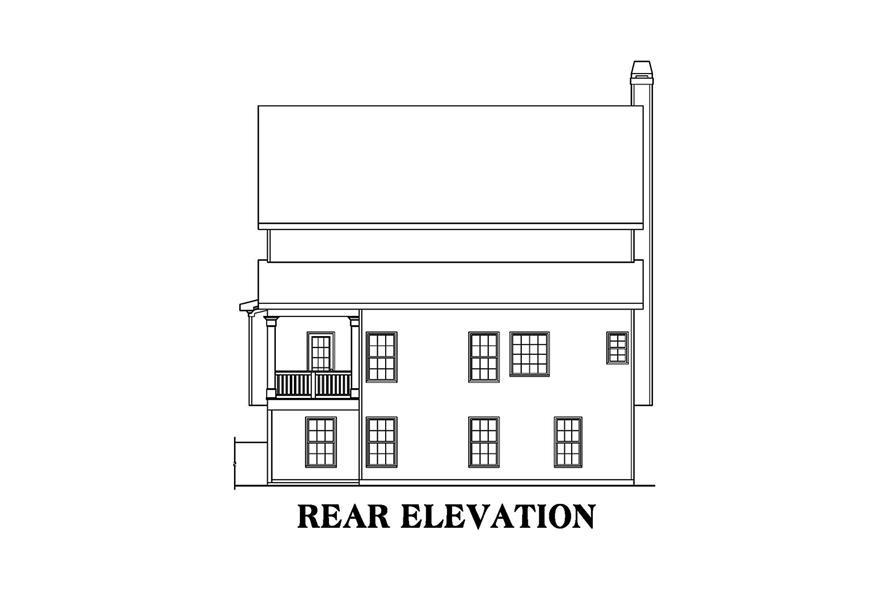 104-1187: Home Plan Rear Elevation