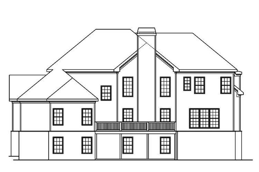 104-1188: Home Plan Rear Elevation