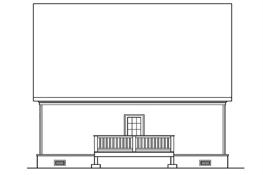 104-1189: Home Plan Rear Elevation