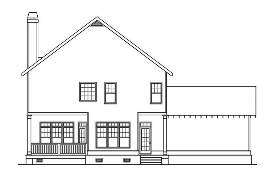 104-1190: Home Plan Rear Elevation