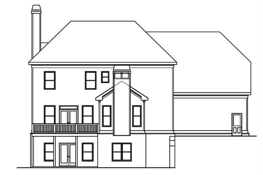 104-1193: Home Plan Rear Elevation