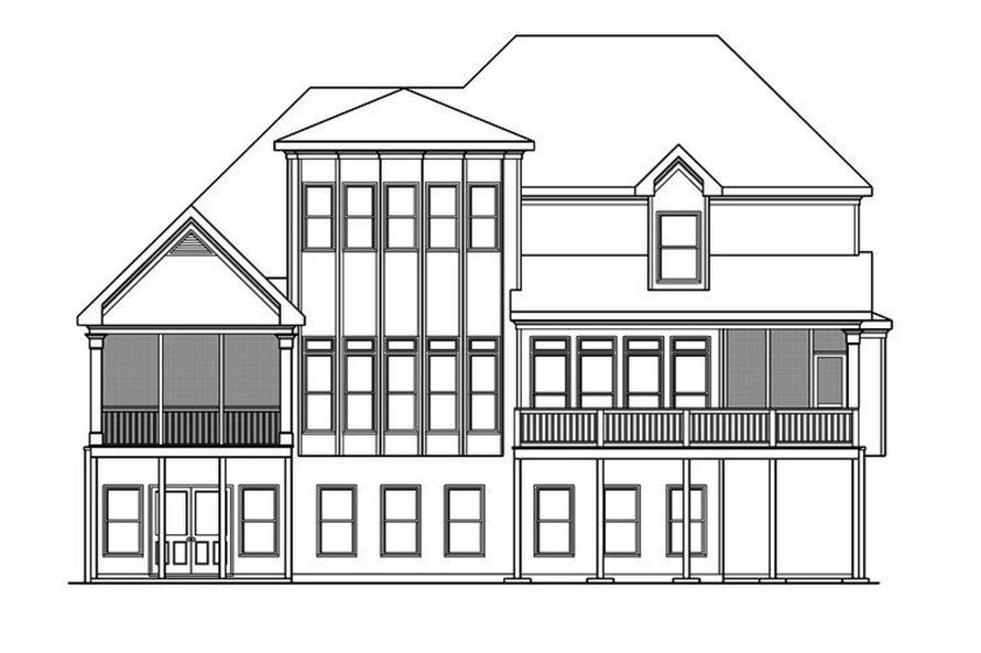 104-1194: Home Plan Rear Elevation