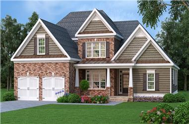 4-Bedroom, 3792 Sq Ft Southern Home Plan - 104-1194 - Main Exterior