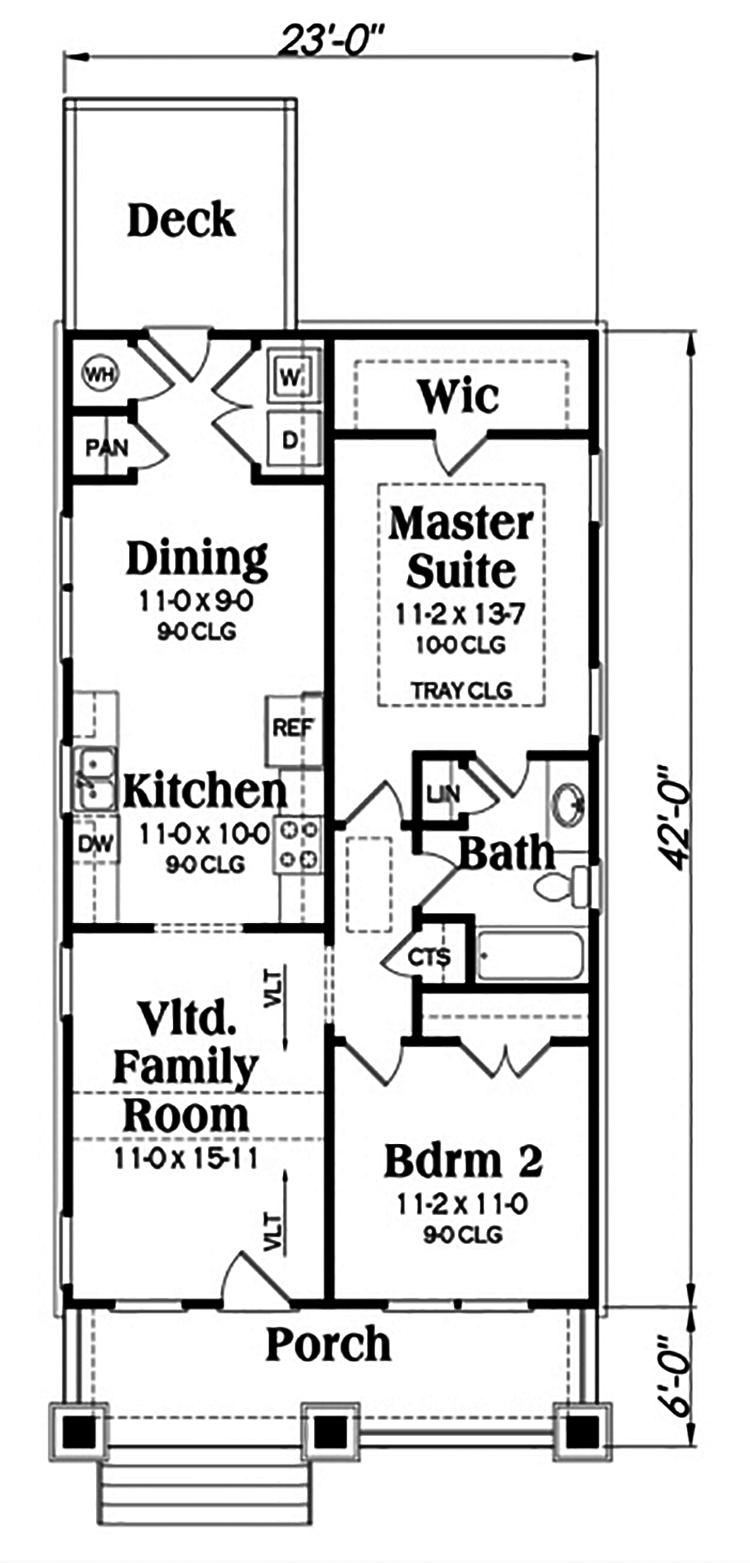 Bungalow House Plan 104 1195 2 Bedrm 966 Sq Ft Home