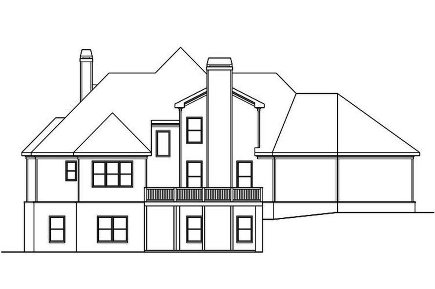 104-1196: Home Plan Rear Elevation