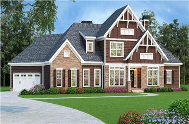 4-Bedroom, 2828 Sq Ft Craftsman Home Plan - 104-1196 - Main Exterior