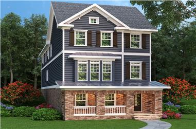 3-Bedroom, 3459 Sq Ft Traditional Home Plan - 104-1197 - Main Exterior
