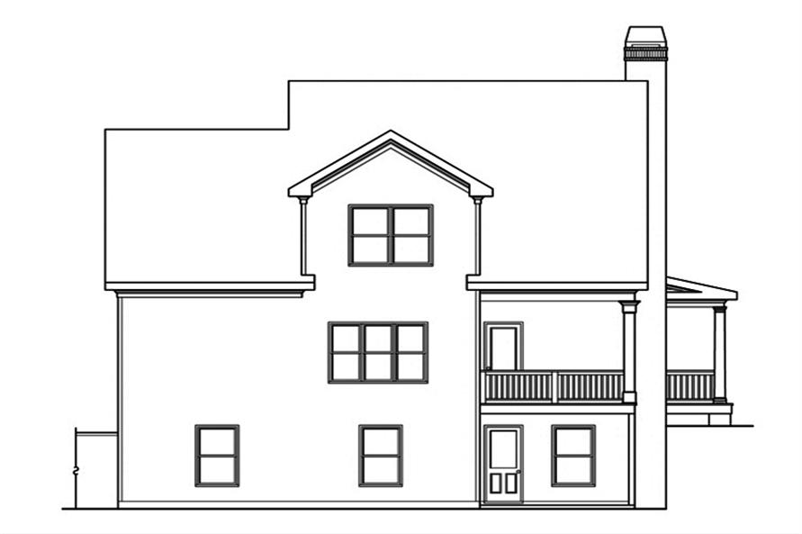 Home Plan Rear Elevation of this 3-Bedroom,2293 Sq Ft Plan -104-1199