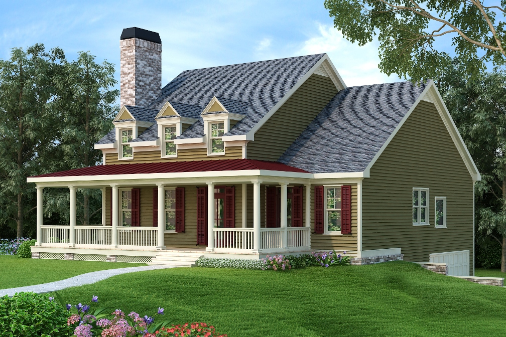 Country House Plan #104-1199: 3 Bedrm, 2293 Sq Ft Home