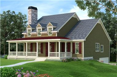 3-Bedroom, 2293 Sq Ft Country Home Plan - 104-1199 - Main Exterior