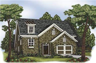 4-Bedroom, 2274 Sq Ft European House Plan - 104-1200 - Front Exterior