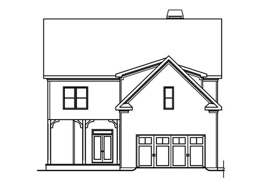 104-1201: Home Plan Rear Elevation