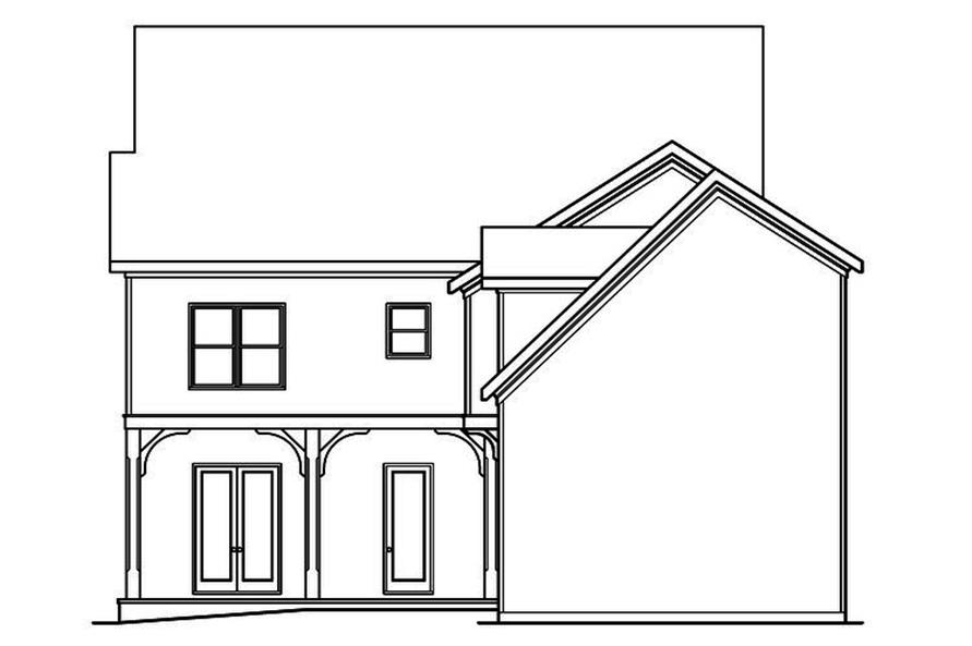 104-1202: Home Plan Rear Elevation