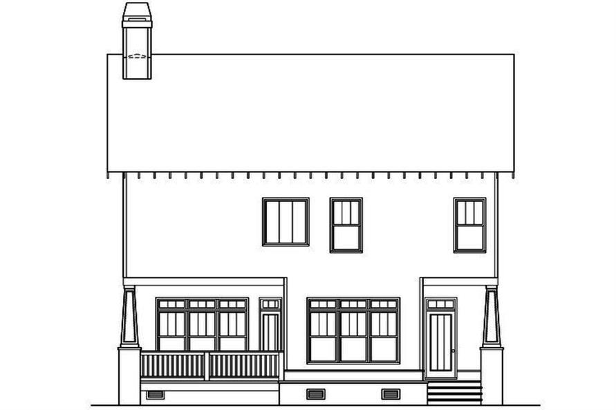 104-1203: Home Plan Rear Elevation