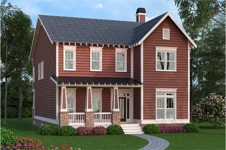 Front elevation of Country home (ThePlanCollection: House Plan #104-1203)