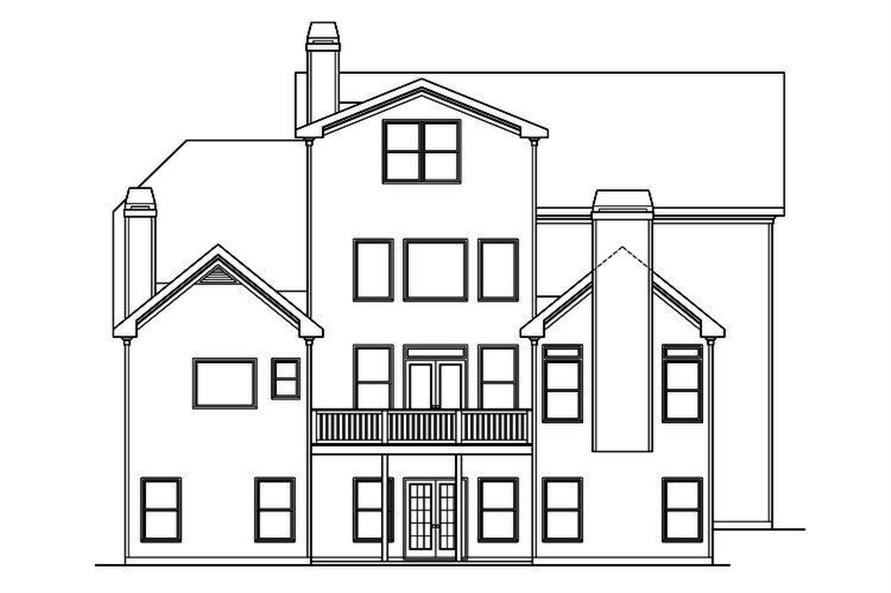 104-1204: Home Plan Rear Elevation