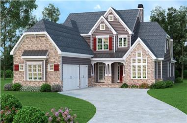 5-Bedroom, 4096 Sq Ft Luxury House Plan - 104-1204 - Front Exterior